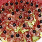 Melonenschiffchen mit Schinken