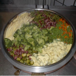 Verschiedene Gemüsesorten im Gemüsetopf